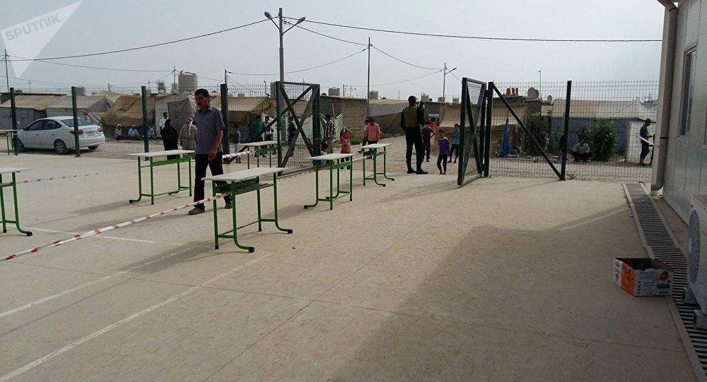 استفتاء إقليم كردستان في مخيم شيخان