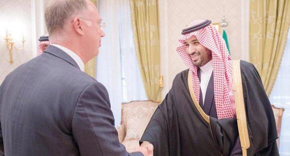 الملك سلمان بن عبد العزيز ورئيس صندق الاستثمارات المباشرة الروسي