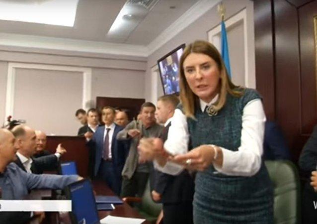 شجار في البرلمان الأوكراني