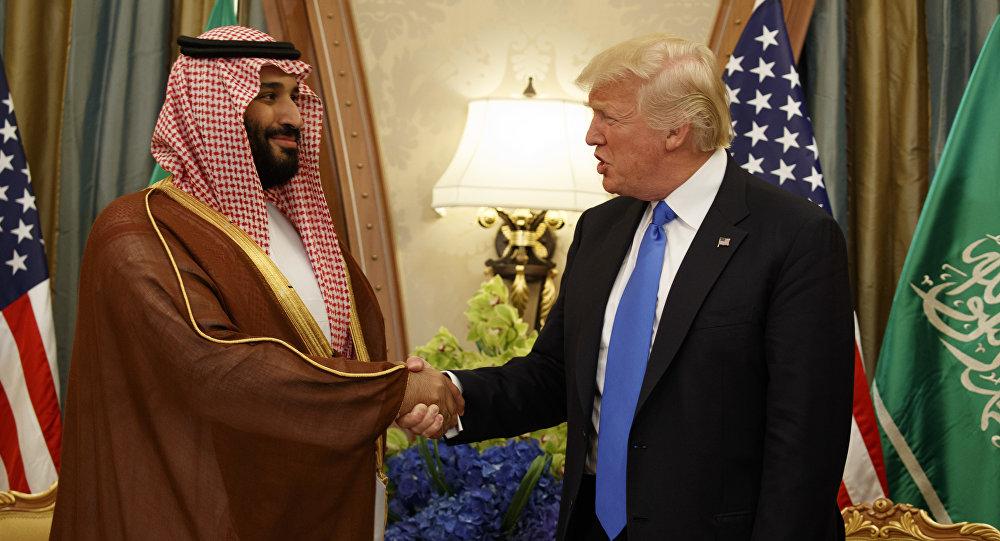 ولي العهد السعودي الأمير محمد بن سلمان ورئيس الولايات المتحدة دونالد ترامب، الرياض، السعودية