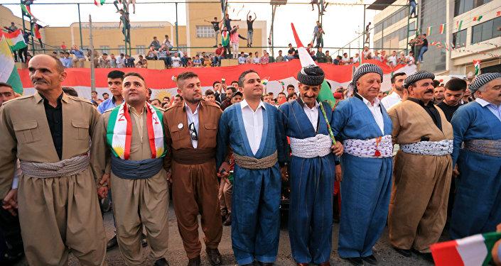 احتفالات الأكراد بنتيجة الاستفتاء