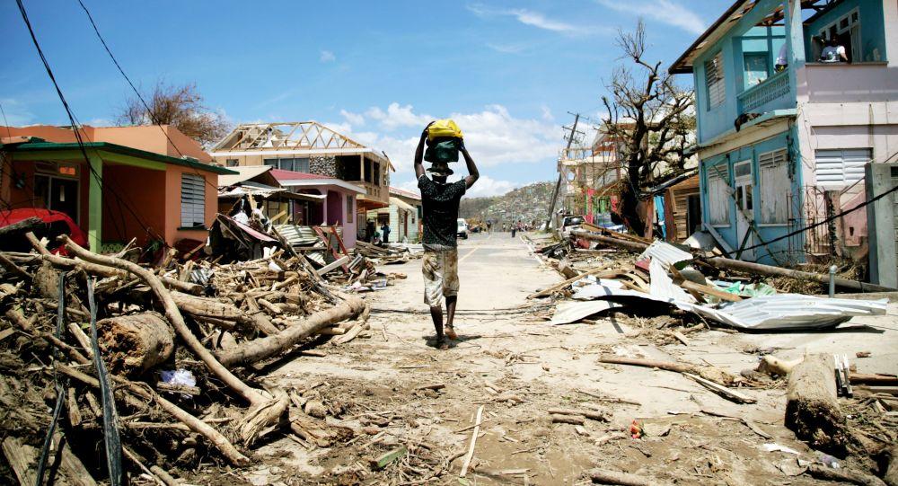 الدمار النجم عن إعصار ماريا في جمهورية الدومينيكان، 21 سبتمبر/ أيلول 2017