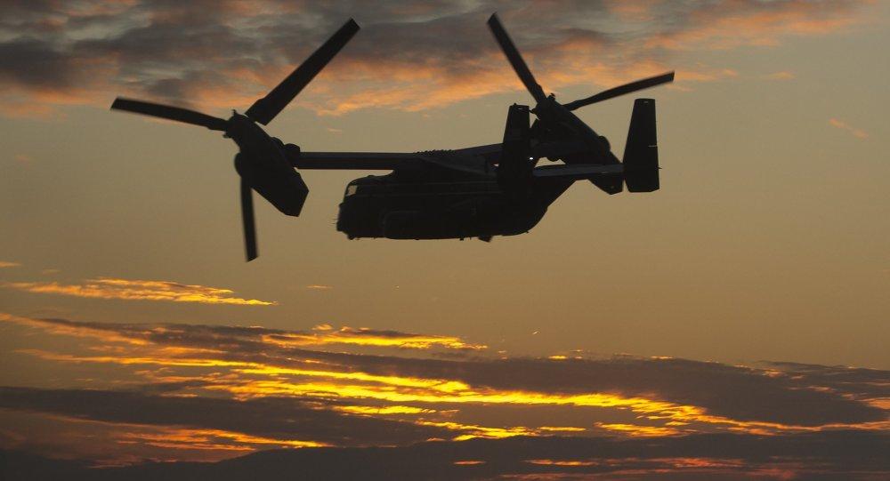 طائرة تابعة لسلاح الجو الأميركيMV-22 Osprey