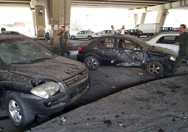 تفجير في قسم شرطة الميدان بدمشق