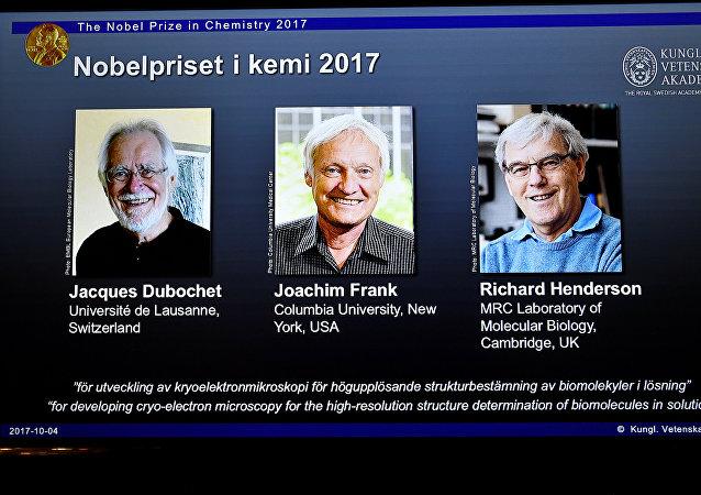 العلماء الثلاثة الحاصلين على جائزة نوبل في الكيمياء
