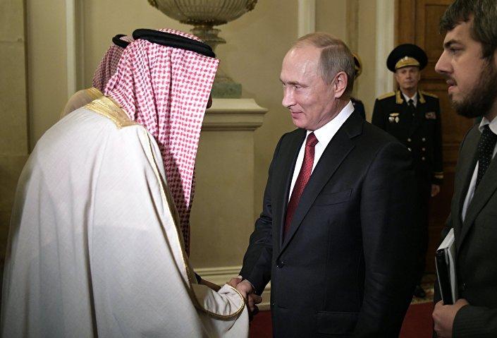 لقاء الرئيس الروسي مع الملك السعودي في موسكو، 5 أكتوبر/تشرين الأول 2017