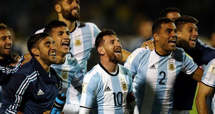 فرحة المنتخب الأرجنتيني