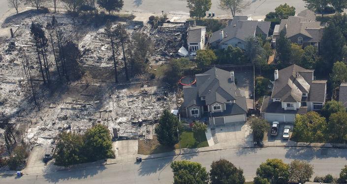 آثار حرائق كاليفورنيا، الولايات المتحدة الأمريكية 11 أكتوبر/ تشرين الأول 2017