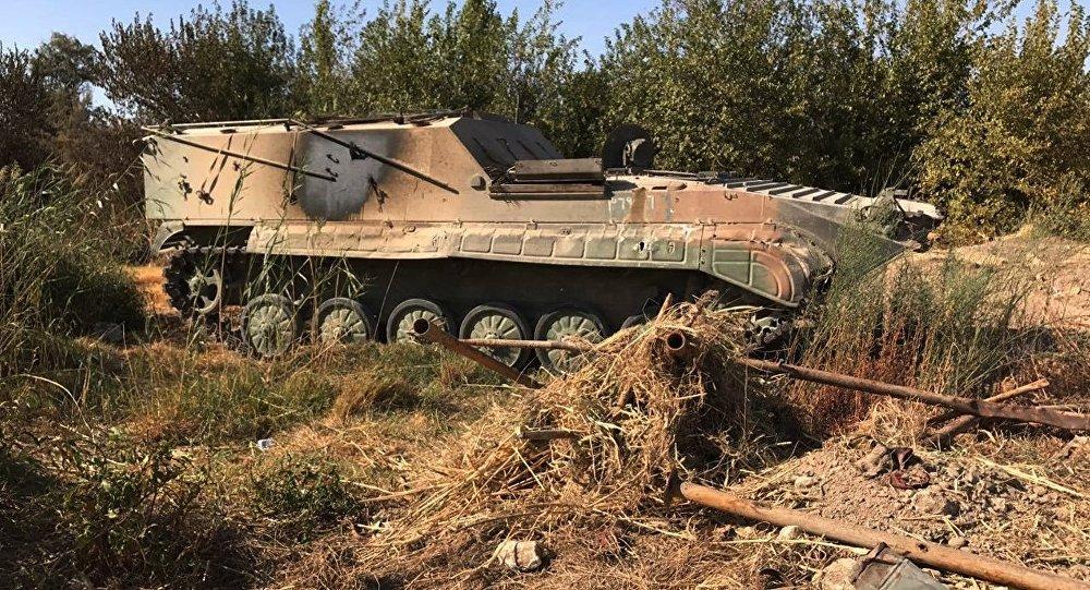 إحدى آليات الجيش السوري