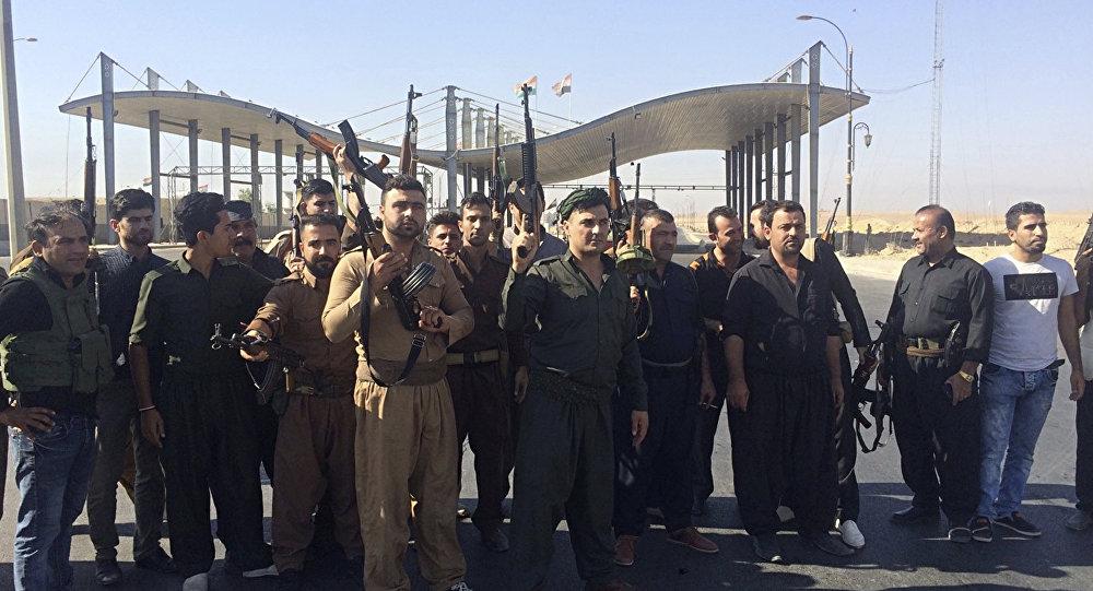 قوات الأمن الكردية جنوب كركوك، العراق 16 أكتوبر/ تشرين الأول 2017