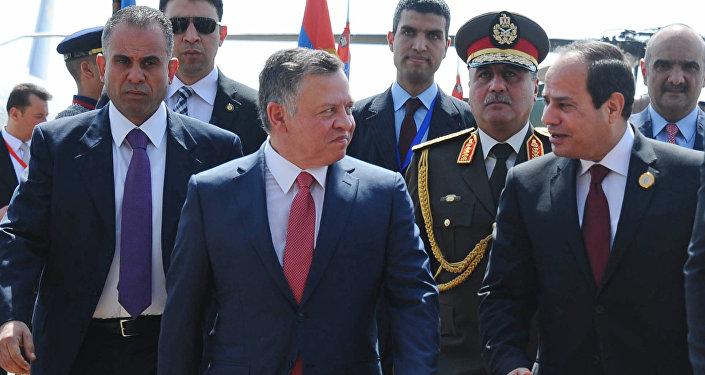 الرئيس المصري عبد الفتاح السيسي والعاهل الأردني الملك عبد الله الثاني