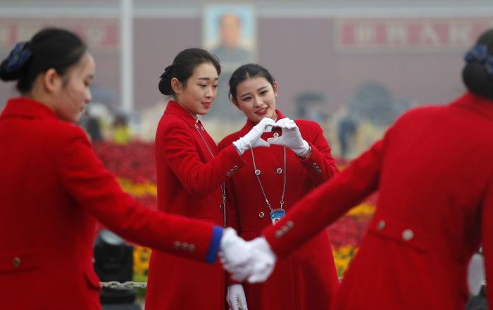 افتتاح المؤتمر التاسع عشر للحزب الشيوعي في بكين، الصين 20 أكتوبر/ تشرين الأول 2017