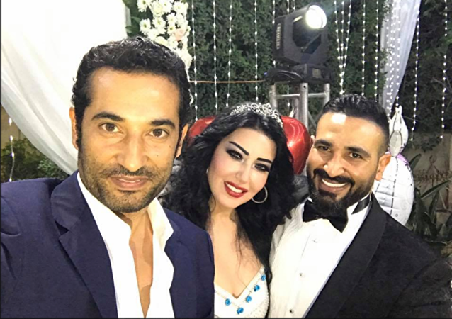 زواج أحمد سعد وسمية الخشاب