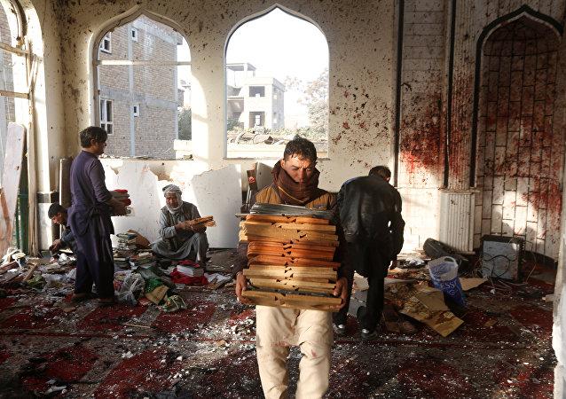 تفجير إرهابي في مسجد في كابول