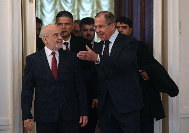 لقاء وزير الخارجية الروسي سيرغي لافروف مع نظيره العراقي في موسكو، 23 أكتوبر 2017