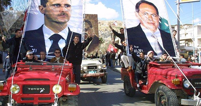 مظاهرة داعمة للوجود السوري في لبنان