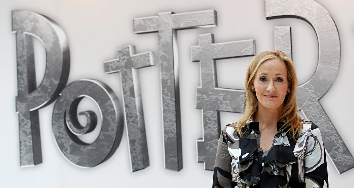 British author JK Rowling, creator of the Harry Potter series of books (File)