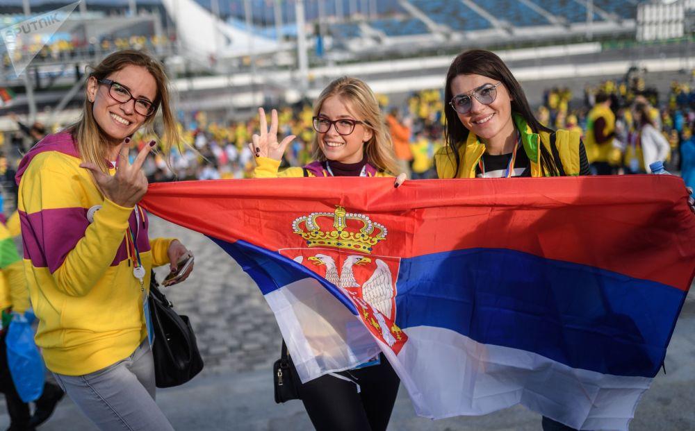 المشاركات في المهرجان اللشبابي والطلابي التاسع عشر في مدينة سوتشي، روسيا