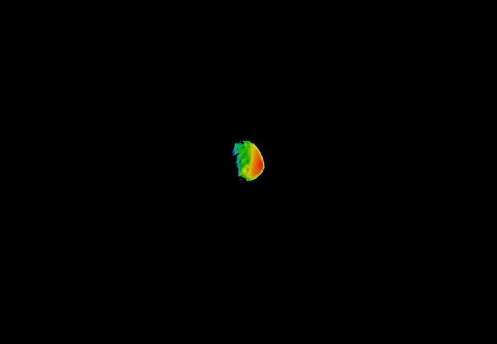 قمر تابع لكوكب المريخ فوبوس بواسطة كاميرا تصوير THEMIS  من وكالة ناسا،  29 سبتمبر/ أيلول 2017