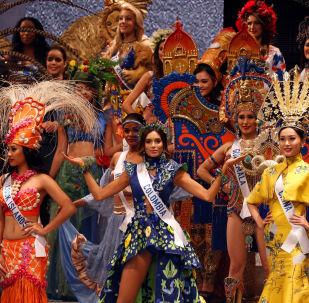 ملكة جمال ميس انترناشنال 2017 في طويكيو، اليابان 14 نوفمبر/ تشرين الثاني 2017 - ممثلة كولومبيا (الوسط) فانيسا بولغارين