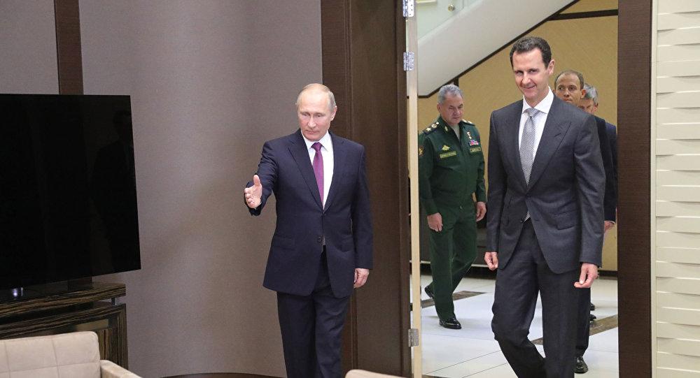 Image result for لقاء بوتين والاسد