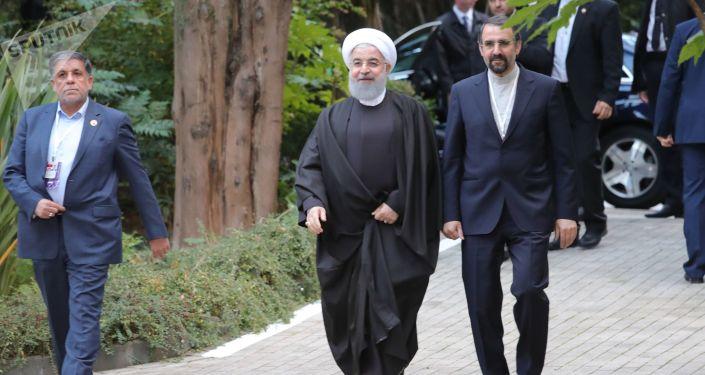 الرئيس الإيراني حسن روحاني في سوتشي، 22 نوفمبر/ تشرين الثاني 2017
