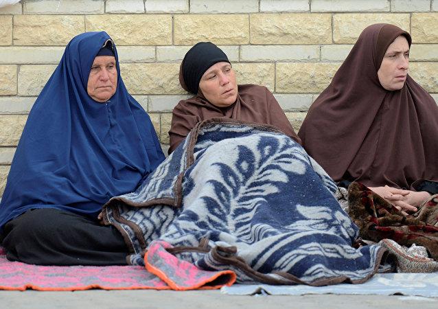 أقارب ضحايا الهجوم الإرهابي على المسجد شمال سيناء