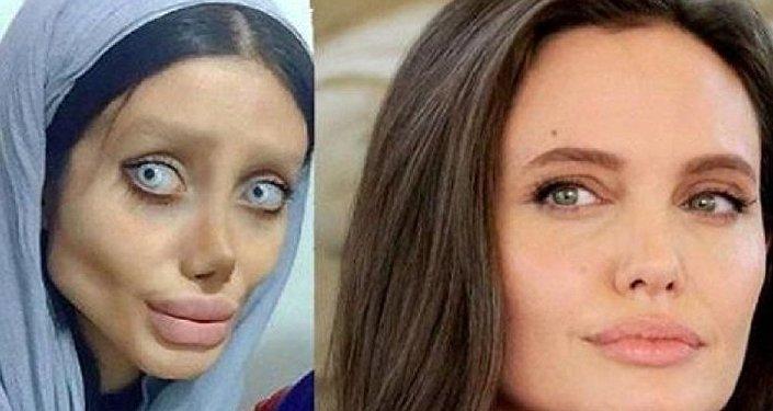 تحول فتاة إلى هيكل عظمي بدلا من أنجيلينا جولي