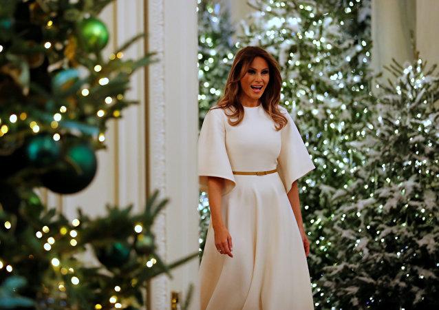 السيدة الأولى ميلانيا ترامب في البيت الأبيض