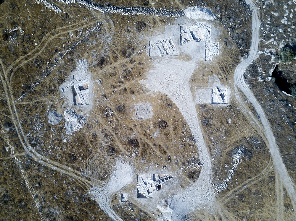 صورة لمنطقة الحفريات باستخدام طائرة بدون طيار