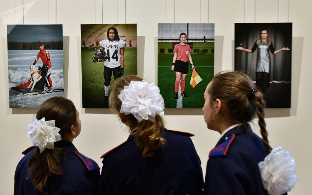 الزوار خلال افتتاح معرض روسيا. منطقة الحاضر في موسكو
