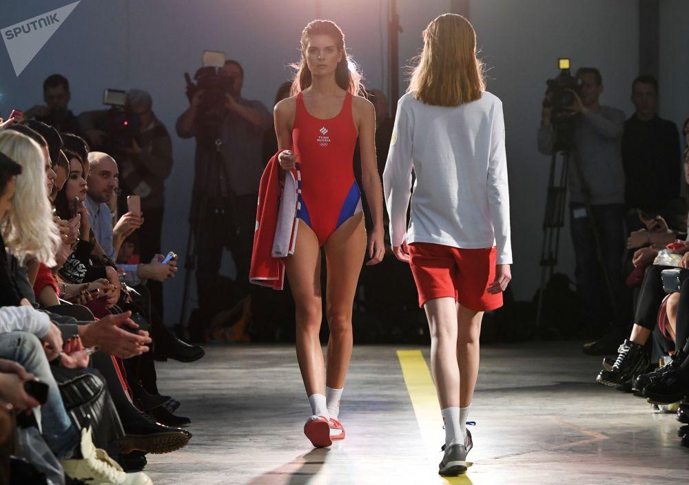 عرض ملابس  الفريق الأولمبي في موسكو