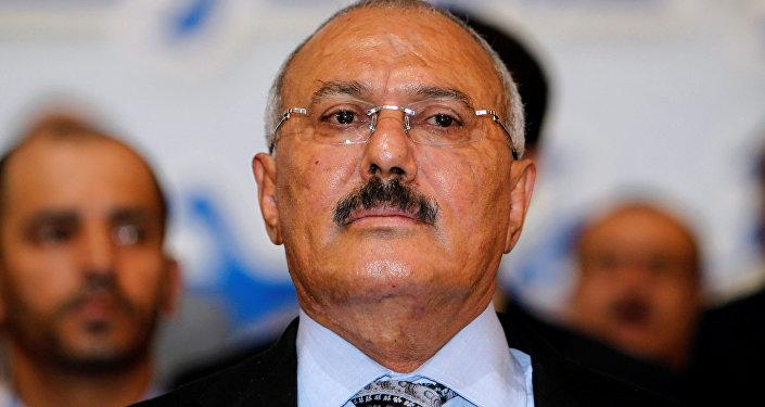 الرئيس السابق علي عبدالله صالح في صنعاء، اليمن 3 سبتمبر / أيلول 2012