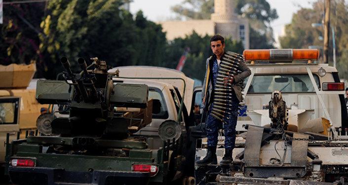 انتشار قوات أنصار الله، بعد مقتل الرئيس اليمني السابق علي عبدالله صالح، في صنعاء، اليمن 4 ديسمبر/ كانون الأول 2017