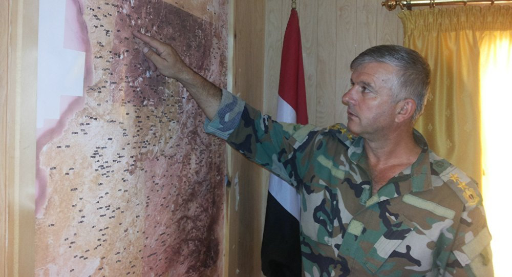 An officer of the Syrian Arab Army