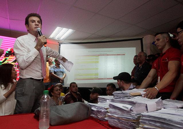 مرشح المعارضة للانتخابات الرئاسية في هندوراس، سلفادور نصر الله