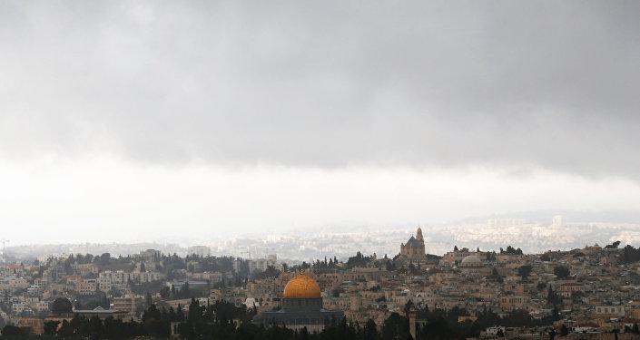 مشهد يطل على مدينة القدس، 6 ديسمبر/ كانون الأول 2017