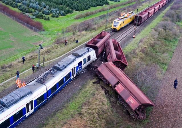 حادث قطار في ميربوخ-أوستيراث، غرب ألمانيا 6 ديسمبر/ كانون الأول 2017