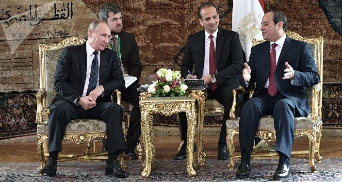 الرئيس الروسي فلاديمير بويتن والرئيس المصري عبدالفتاح السيسي في مصر، 11 ديسمبر/ كانون الأول 2017