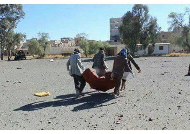 قصف التحالف مقر أسرى في صنعاء