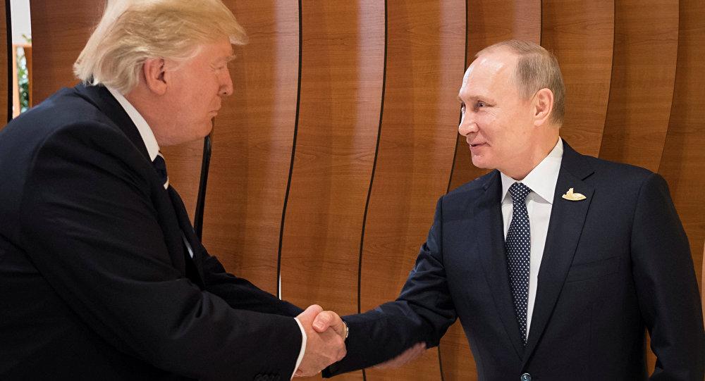 أول مصافحة بين بوتين وترامب على هامش قمة العشرين في هامبورغ