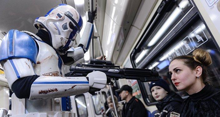 يوم حرب النجوم في مترو موسكو
