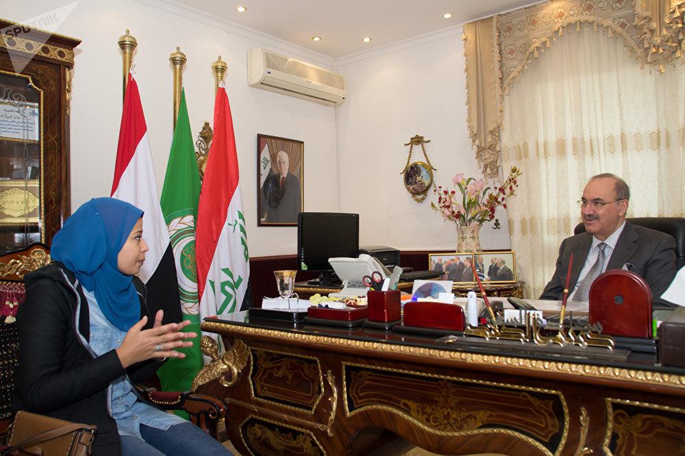 حوار مع السفير العراقي بالقاهرة حبيب الصدر