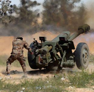 الجيش السوري في مكافحة الإرهاب عبر مدفه هاوتزر