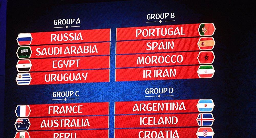 مجموعات كأس العالم 2018 في روسيا