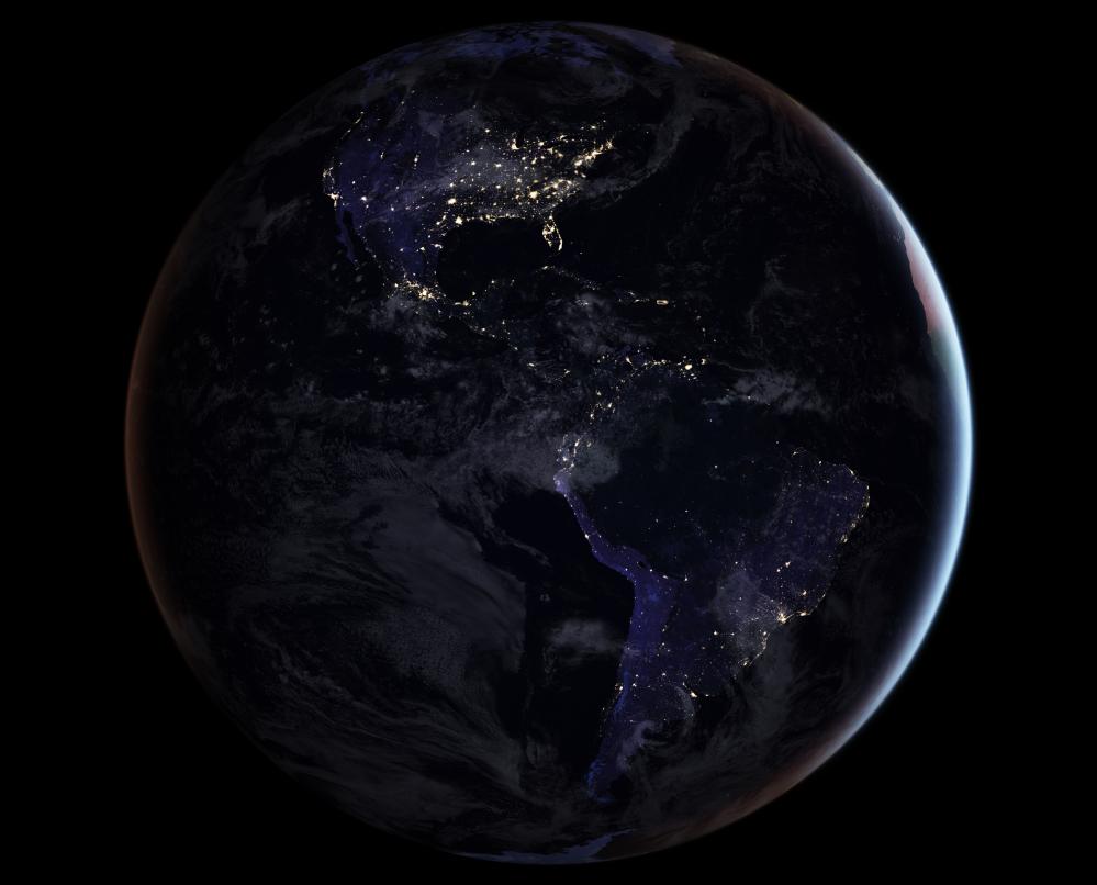 الخارطة الليلية لكرة الأرض