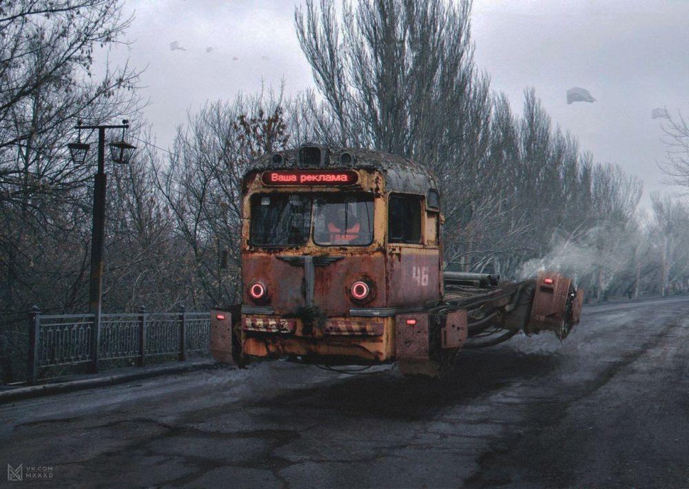 صورة فنية توضيحية لموضوع روسيا في عام 2046 تقدمها مجموعة المشروع الفني MXD