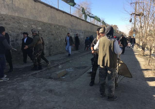 مكان تفجير في كابل، 28 ديسمبر 2017