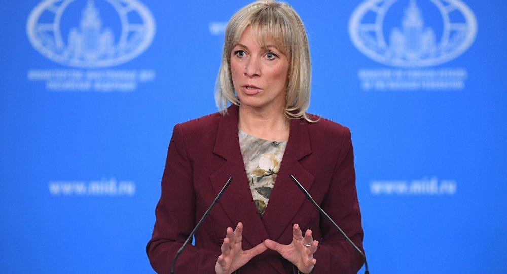 الناطقة الرسمية باسم وزارة الخارجية الروسية ماريا زاخاروفا