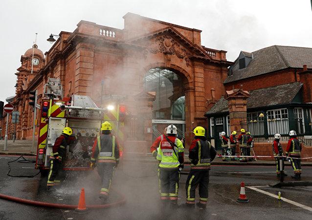 حريق محطة قطارات نوتنغهام 12 يناير 2018